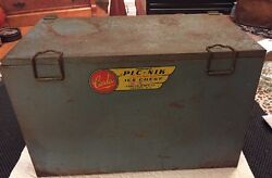 Carlco Portable Pic Nik Picnik Leakproof Ice Chest No.10 Carlisle Mfg 50and039s Metal