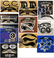Helmet Speed Decal Sets With Extras-black Ice Out Full Size