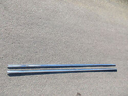 1958 Cadillac Coupe Deville Front Fender Trim Stainless Pair
