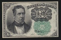 Us 10c Fractional Currency 5th Issue Green Seal Pos B 16 Fr 1264 Ch Cu 020