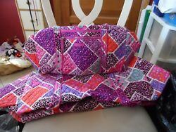 Vera Bradley Large And Small Ionic Duffel Bag Travel Set In Modern Medley