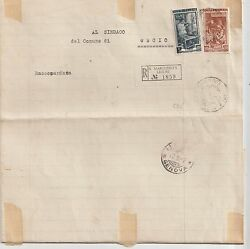 Italy 1952 100l Work On Registered Branded Paper 24l Cover From S.margherita L.