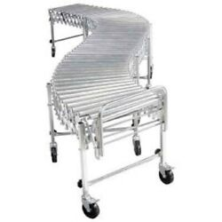 New Flexible Roller Conveyor-steel Rollers 200 Lb./ft. 3'5l To 12'10l-18w