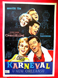 Mardi Gras 1958 Pat Boone Christine Carere Tommy Sands Rare Exyu Movie Poster