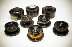 Vintage Mitchell / Garcia France 300/301 5 Fishing Spools And 3 Cases Original