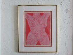 Bernard Childs Signed Lithograph The Receptive Numbered Nude Intaglio