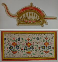 Pair Persian Or India Hand Painted Miniature Paintings, 19th Cent.