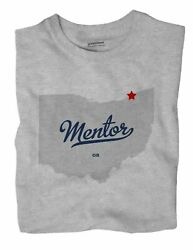Mentor Ohio Oh T-shirt Map