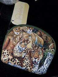 Modella Cosmetic Travel Makeup Bag Zippered Pouch Animal Print 5.5quot;×4quot; $4.25