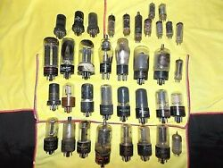 Vintage Lot Of 36 Emerson Cbs Olympic Trav-ler Centron Radio And Tv Vacuum Tubes