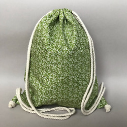 Eco Bag Beach Backpack Beach Bag Cotton Bag Cotton Backpack Summer Bag $35.00