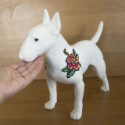 Bullterrier Sculpture Dog Art Needle Felted Statue For Home Decoration