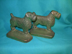 Antique Terrier Dog Bookends