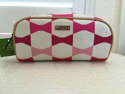 Kate Spade Cosmetic Bag New York Japan Exclusive Made Up Pink Bow Authentic New $55.99