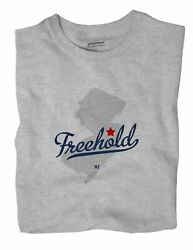 Freehold New Jersey Nj T-shirt Map