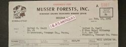 1951 Bill head MUSSER FORESTS Thorobred Nursery Trees Indiana Pennsylvania PA
