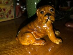 Old Mortens Studio English Bulldog Puppy Dog Vintage Excellent With Label