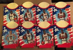 Vintage 1994 Usa Dream Team Mcdonalds French Fry Boxes Nm Condition Unused