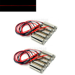 10pcs Line Focusable 650nm 5mw 3-5v Red Laser Diode Module 12x35mm W/ Driver-in