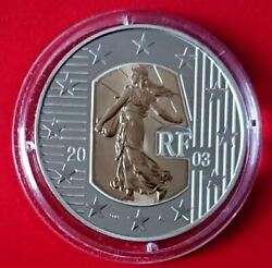 France 2003 5 Euro The Sower Proof Bi-metal Gold And Silver Coin