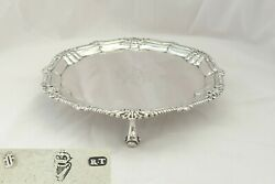 Rare Irish George I Hm Sterling Silver 3 Footed Salver 1725