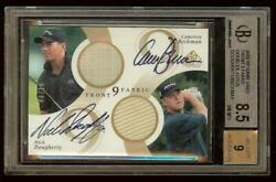 Dougherty Beckman 2002 Sp Game Used Front 9 Fabric Dual Auto Only /10 1983