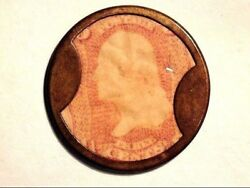 Vintage - Rare - 1862 Civil War - Ayers Cathartic Pills Token-excellent Cond.