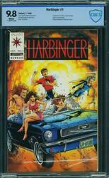 HARBINGER 1 CBCS CGC 9.8 WHITE PAGES PERFECTLY SQUARE UNITY VALIANT COMIC