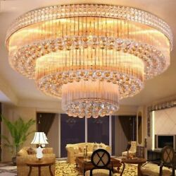 European style LED crystal ceiling lamps hall lobby chandeliers Lighting Fixture
