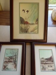 Authentic Rare Beautiful Marie Claire Paintings Total of 3  1989
