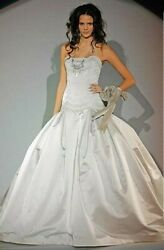 KENNETH POOL 'SILK SATINLILAC MIST MINUET' BALL GOWN WITH A SWEETHEART NECKLINE