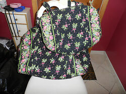 Vera Bradley Large And Small Duffel Bag Travel Set In Retired New Hope Pattern