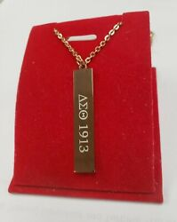 New Customized Rose Gold Delta Sigma Theta 18 Inch Necklace 2 Sides