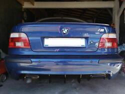 Bmw E39 Diffuser For Rear M Bumper Abs Plastic M5 1 And 2 Exhaust