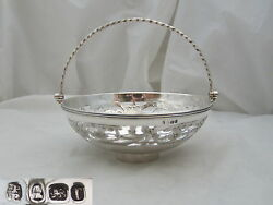 Rare George Iii Hm Sterling Silver Pierced Bowl 1792