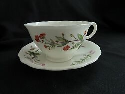 Minton Meadow Scalloped Cup And Saucer B 1641 Made In England