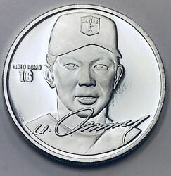 Hideo Nomo 16 Los Angeles Dodgers Mlb -limited Edt.-1 Oz .999 Fine Silver Round