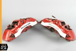 Mercedes W211 E55 S65 CLS55 AMG Front Brake Caliper Calipers Set Brembo Red OEM