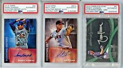Lot Of 18 Signed Perfect Game Pitchers Trading Cards Psa Slabbed Koufax Lst687