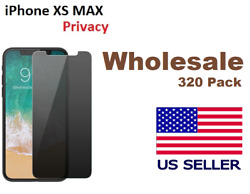 [320 Pack ] iPhone 10 XS MAX Privacy Tempered Glass Anti Spy Screen Protector