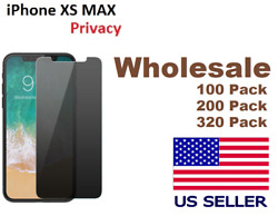 For iPhone 10 XS MAX Privacy Tempered Glass Anti Spy Screen Protector lot