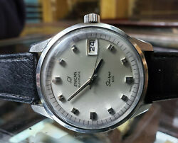 RARE VINTAGE ENICAR SHERPA 600 AUTOMATIC 40MM MENS WATCH