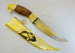 Gold-plated Knife. Eagle. Luxury A Collectorand039s Gift For A Real Man