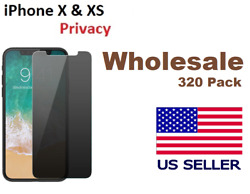 [320 Pack ] iPhone 10 X & XS Privacy Tempered Glass Anti Spy Screen Protector