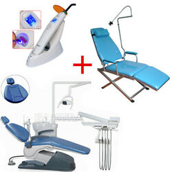 Dental Portable Simple Folding Chair+Unit Chair Computer Controll+Curing light