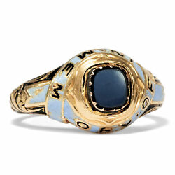 Antique Mourning Ring From 750er 18ct Goldemailagate - London 1852victorian