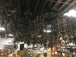 Lifetime 30 Year Collection of Antique Lighting Lamps Light Fixtures Shades Part