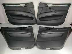 Front And Rear All 4 Interior Door Panels Inner Covers Set Oem Bmw E70 Leather