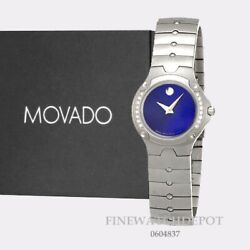 Authentic Movado Silver Tone Womenand039s Sports Edition Royalblue Dial Watch 0604837