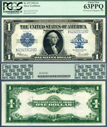1923 1 Silver Certificates Change Over Pair Fr-237 Fr-238 Pcgs Graded